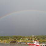 Regnbåge över hela Själsö, 20160811. Foto Gustav Appelquist.
